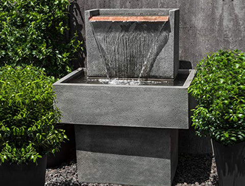 An image of the Falling Water fountain in grey from Creative Living.