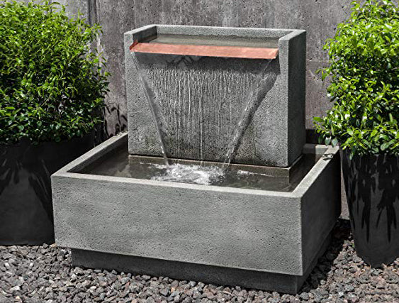 An image of the Falling Water II modern fountain from Creative Living.