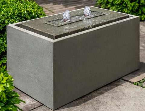 An image of the Avondale modern fountain in grey from Creative Living.