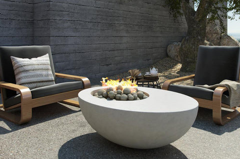 An image of the NYX modern fire pit from Creative Living.