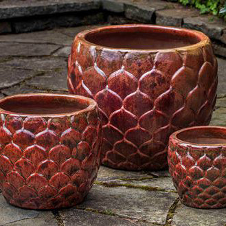PINA SUNSET RED PLANTER