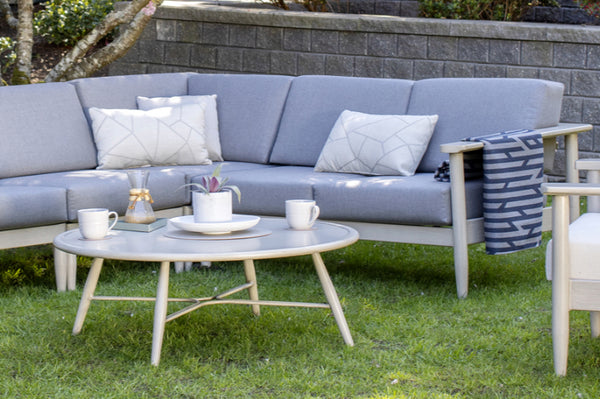An image of the Polanco Round Coffee Table from Creative Living's collection of outdoor furniture.