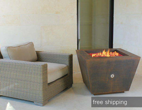 pyramid fire pit by bent in to shape