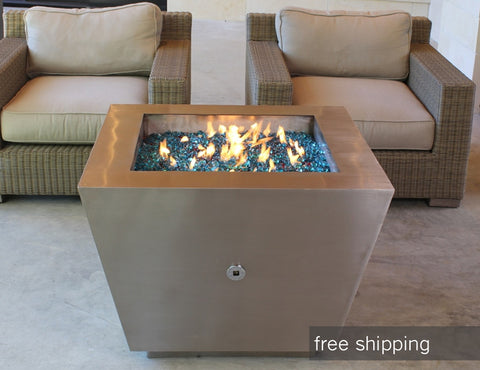 An image of the outdoor fire pit pictured with two chairs from Creative Living.