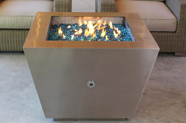 STAINLESS STEEL PYRAMID FIRE PIT
