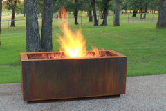 Steel Rectangular fire pit denver
