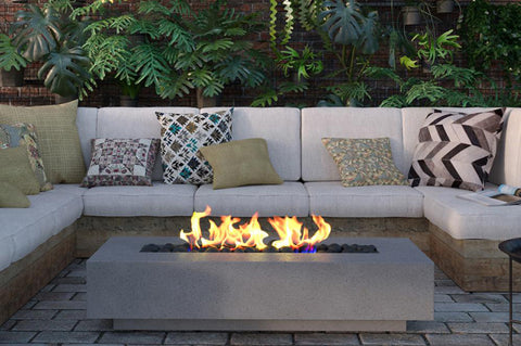 PALLAS CONCRETE LINEAR FIRE PIT - Outdoor Fire Pits - Modern Fire Bowls - Contemporary - Denver