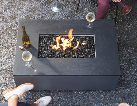 Rectangular fire pit by Ore