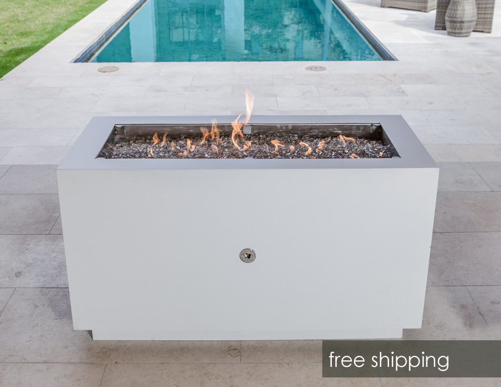 Rectangular Steel Fire Pit With Hidden Propane Tank