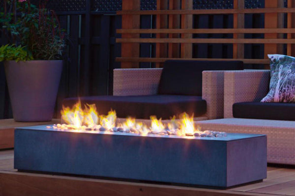 Robata Linear Concrete Fire Pit Denver Colorado