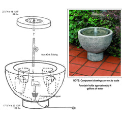 Rustica pot fountain assembly