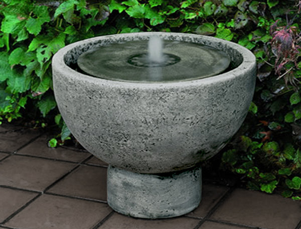 An image of the Rustica Pot Garden modern fountain from Creative Living.