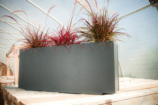 Modern linear outdoor planter