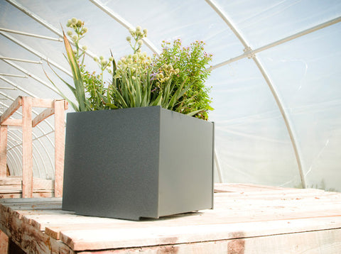Square Modern patio planter