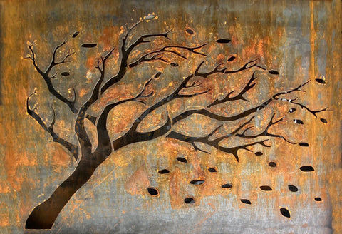 FALLING LEAVES OUTDOOR WALL ART