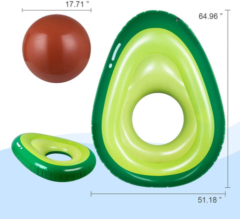 avocado-shaped pool float dimension
