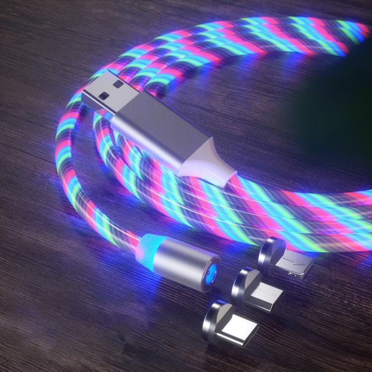iGlow™ Glowing LED Magnetic 3 in 1 USB Charging Cable - Bullskin