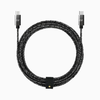 6ft Marbled Woven Braid Type USB-C to USB-C Aluminum Cable With Strap