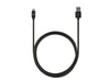 3ft Stainless Steel Lightning Cable - Black
