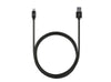 3ft Stainless Steel Lightning Cable - Matte Black