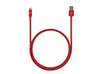 3ft Stainless Steel Lightning Cable - Red