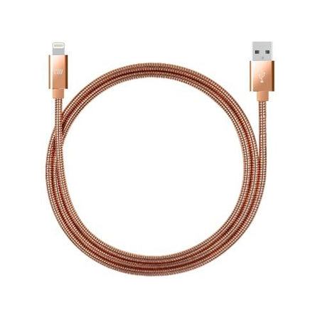 3ft Stainless Steel Lightning Cable - Rose Gold