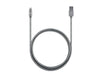 3ft Stainless Steel Lightning Cable - Silver