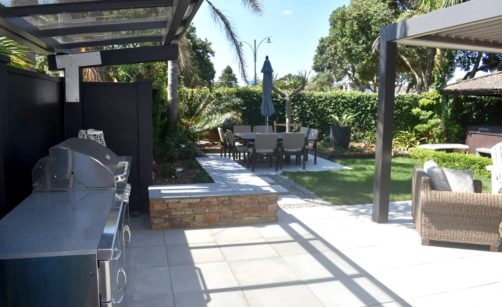 An outdoor lounge and bbq area project in Papamoa