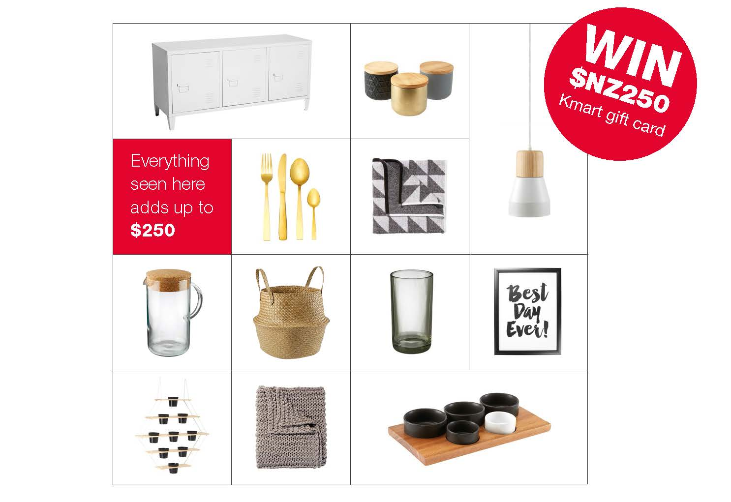 Win a $250 Kmart voucher