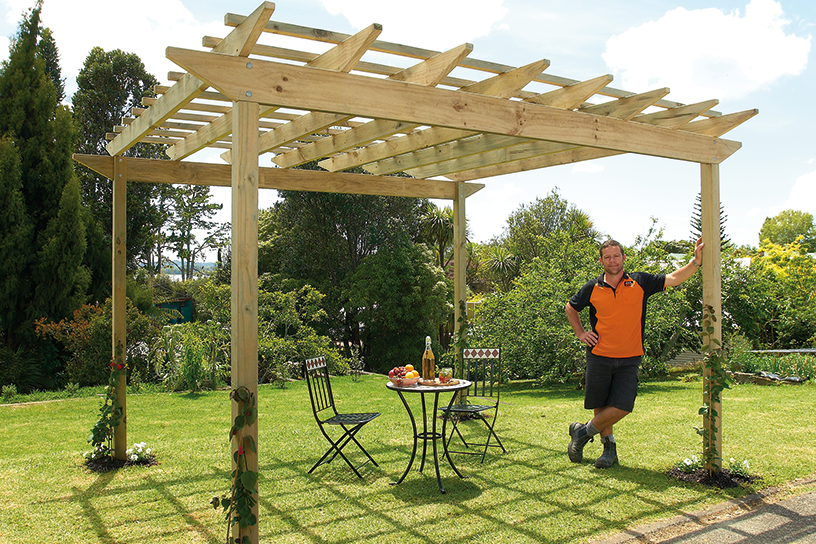 Putting up a pergola