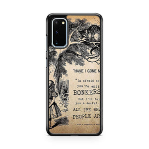 Disney Alice In Wonderland Quote Samsung Galaxy S20 Phone Case
