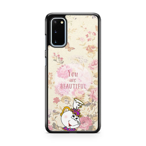 Disney Mrs Potts Chip Beautiful Flower Cute Samsung Galaxy S20 Phone Case
