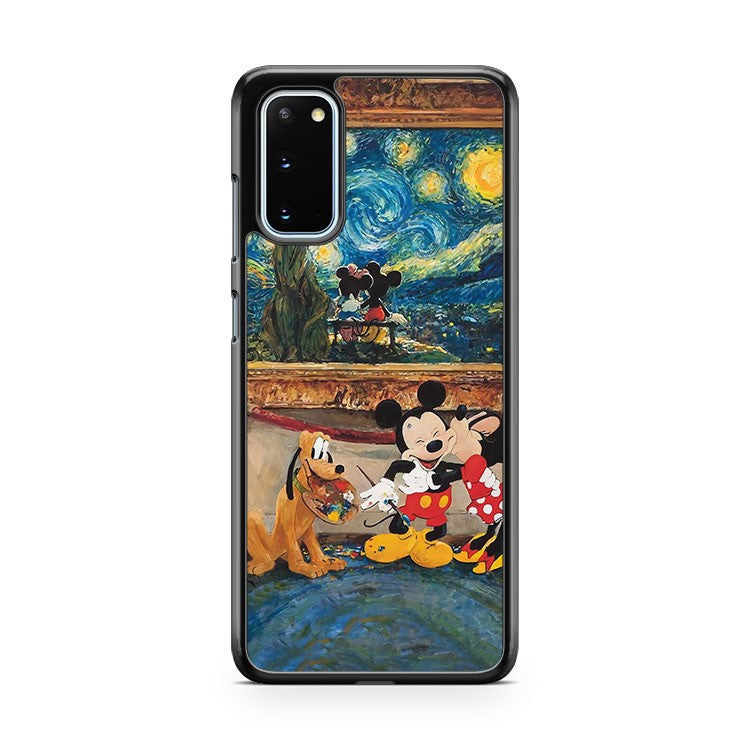 Mickey And Minnie Love Kiss Printed Samsung Galaxy S20 Phone Case