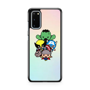 Marvel Kawaii Thor Hulk Wolverine Samsung Galaxy S20 Phone Case
