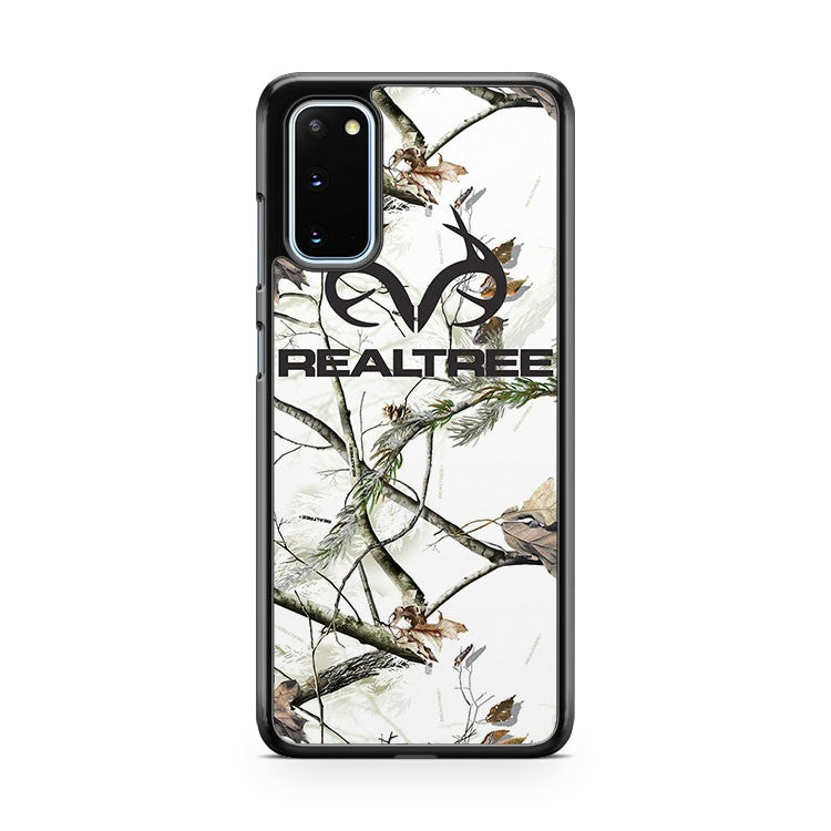 Realtree White Snow Camo Samsung Galaxy S20 Phone Case
