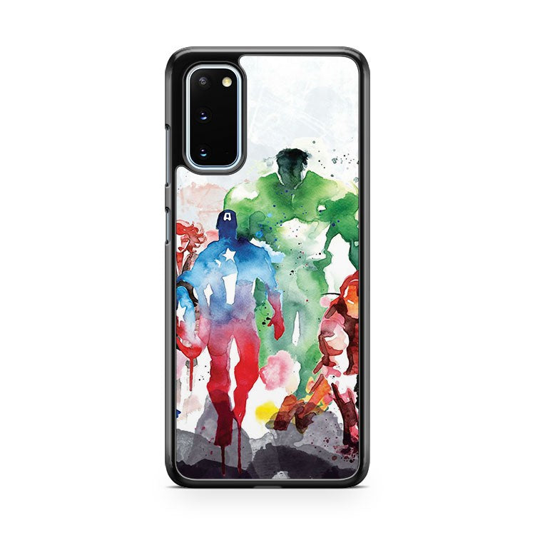 The Avengers In Watercolour Samsung Galaxy S20 Phone Case