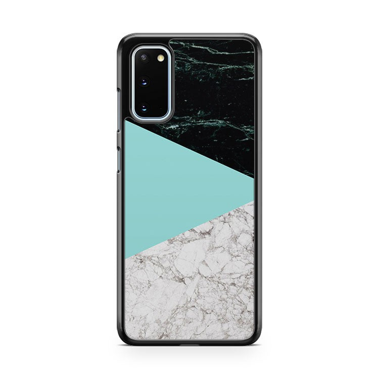 Marble Color Block Mint Samsung Galaxy S20 Phone Case