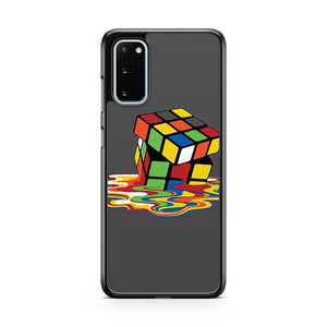 Melting Rubiks Cube Samsung Galaxy S20 Phone Case