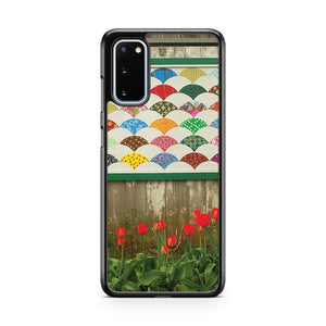 Red Tulips And Barn Samsung Galaxy S20 Phone Case