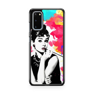 Audrey Hepburn Art Modern Pop Art Watercolor Colorful Art Samsung Galaxy S20 Phone Case