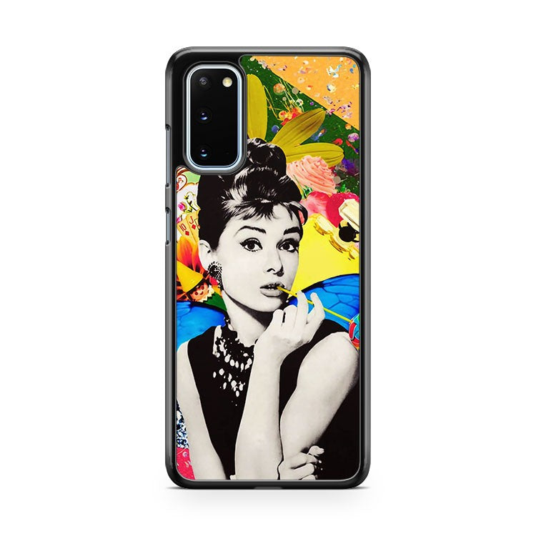 Audrey Hepburn Beautifull Art Painting Collage Samsung Galaxy S20 Phone Case