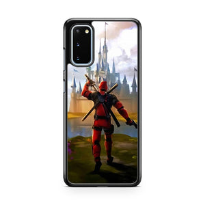 Deadpool Attack Walt Disney Castle Samsung Galaxy S20 Phone Case