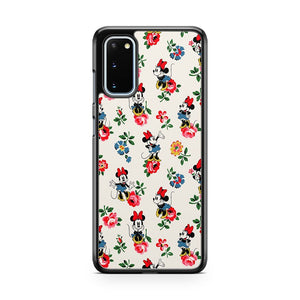 Disney Vintage Minnie Flower Pattern Samsung Galaxy S20 Phone Case
