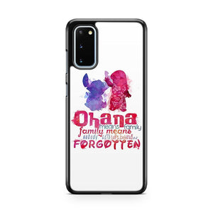 Lilo And Stitch Quote Ohana Means Family Samsung Galaxy S20 Phone Case