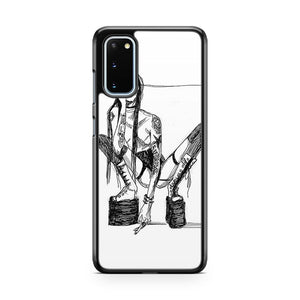 Marilyn Manson Sketch Art Samsung Galaxy S20 Phone Case