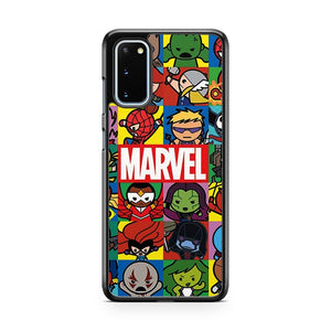 Marvel Fanart Marvel Kawaii Characters Samsung Galaxy S20 Phone Case