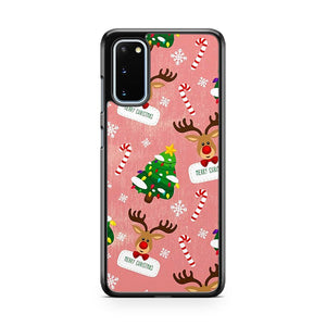 Merry Christmas Pattern Samsung Galaxy S20 Phone Case