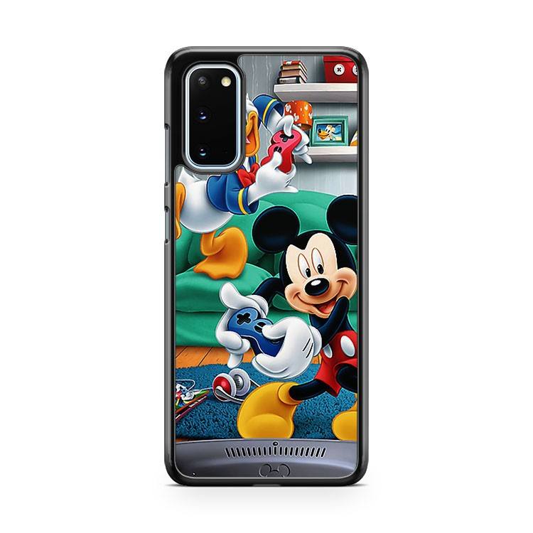 Mickey Mouse Vs Donald Duck Samsung Galaxy S20 Phone Case