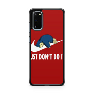 Pokemon Snorlax Nike Just Don't Do It Samsung Galaxy S20 Phone Case