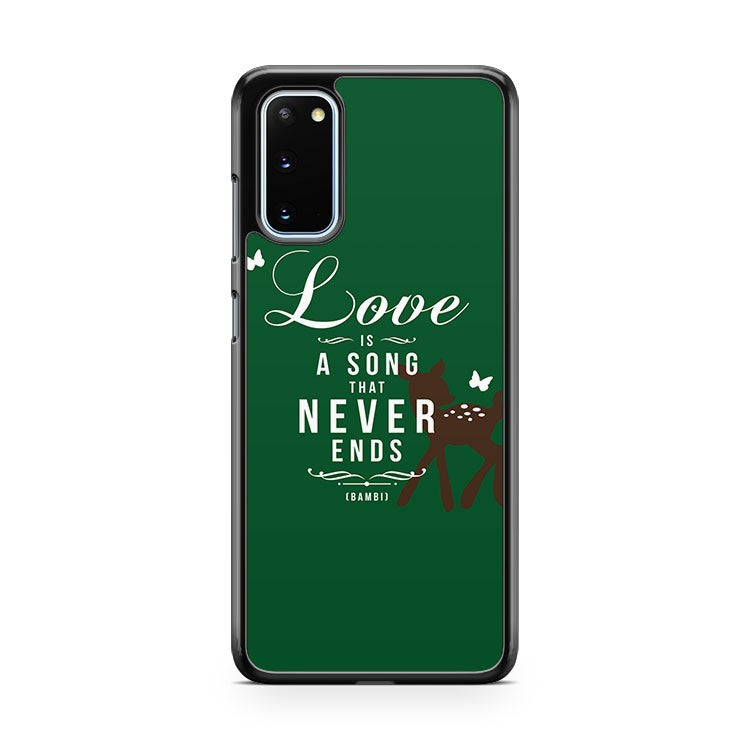 Disney Bambi Love Is A Song Samsung Galaxy S20 Phone Case